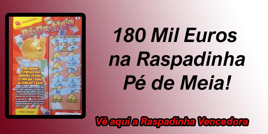 Santa Rita dá 180 mil euros a apostadora na Raspadinha