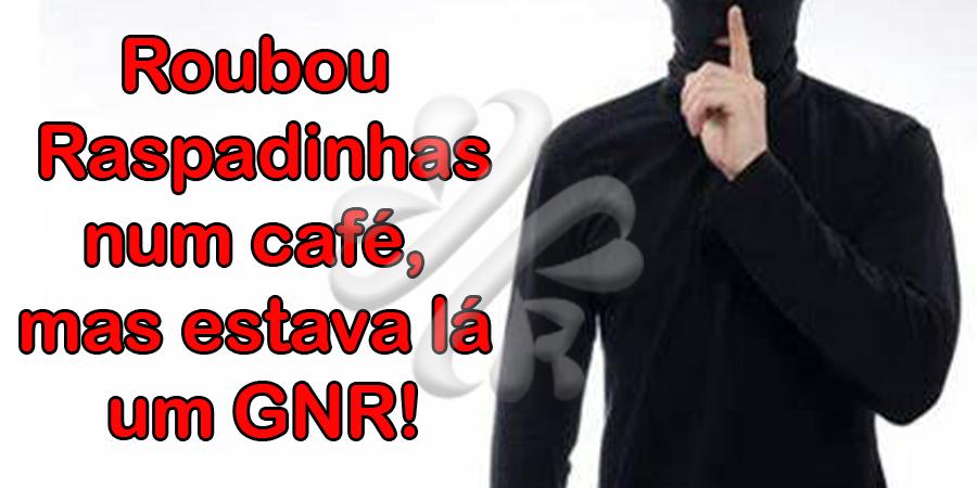 Foi roubar raspadinhas a um café em Braga mas estava lá um GNR à civil