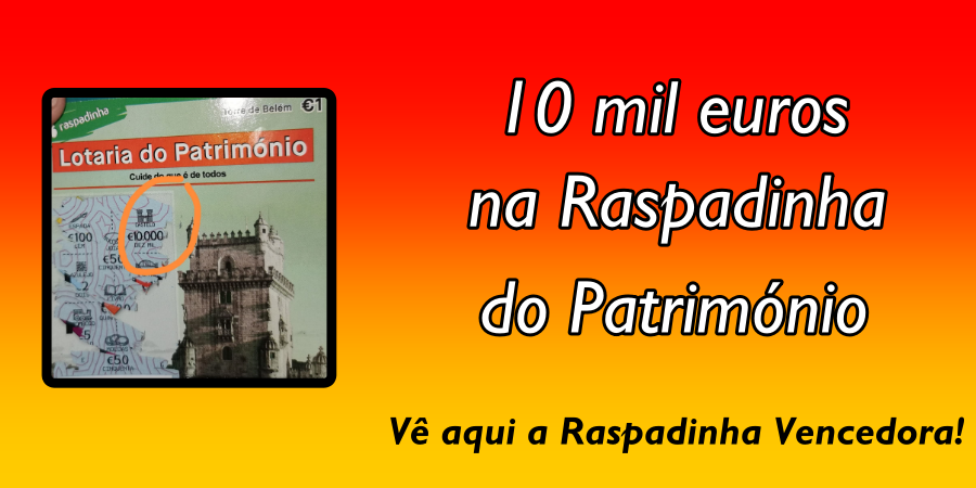 Prémio de 10 mil€ na Raspadinha do Património para  Torres Vedras